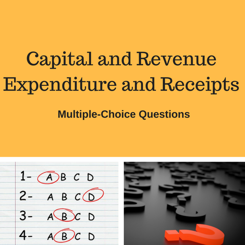Capital and Revenue Receipts Multiple Choice Questions Image.