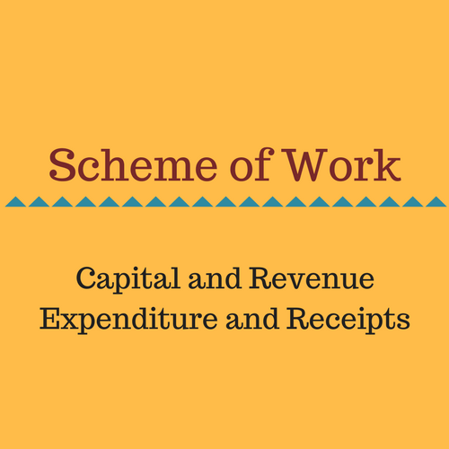 Capital and Revenue Expenditure Scheme of work.